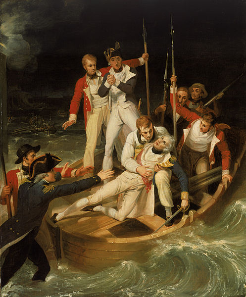 Nelson wounded at Tenerife