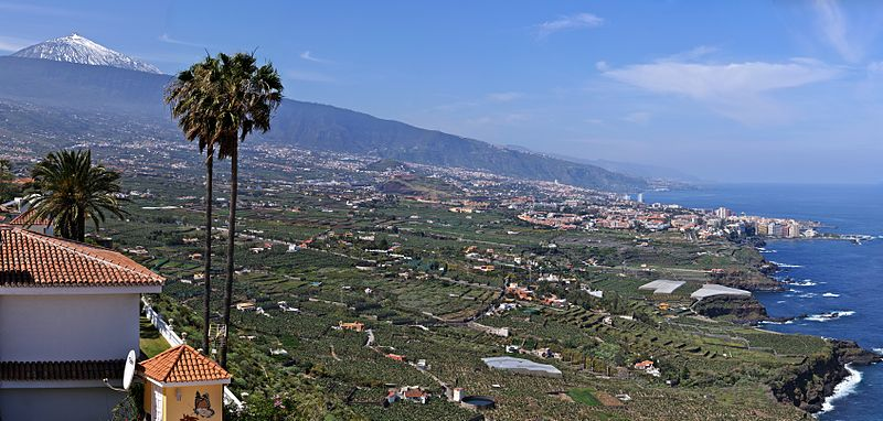 Orotava Valley on Tenerife, Canary Islands